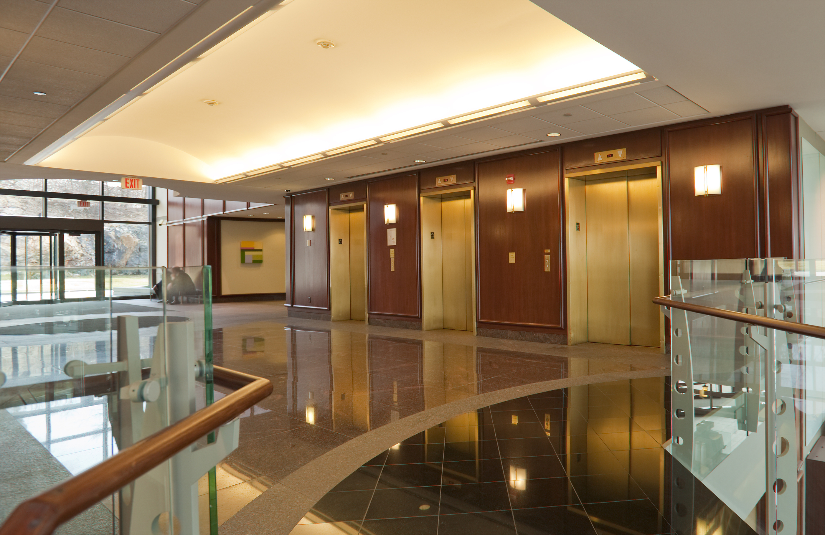 Elevators in office building